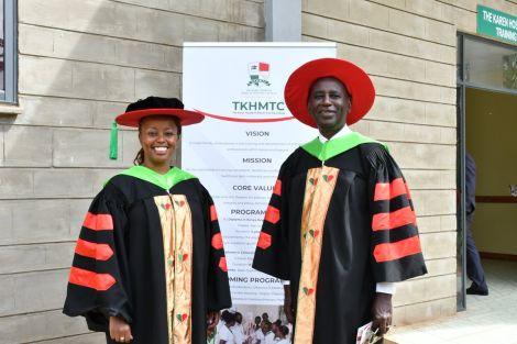New Karen Hospital CEO Juliet Gikonyo with her father Dan Gikonyo