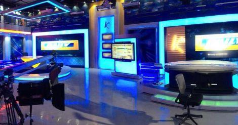 A news set at K24 studios in Nairobi