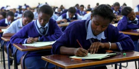 File image of KCSE students sitting an exam