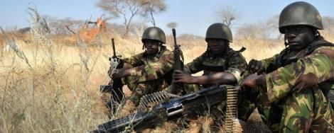 KDF soldiers pictured in Somalia in 2018