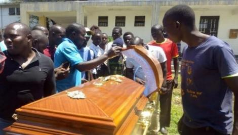 The coffin with a body inside was dumped outside Lumumba Sub-County Hospital