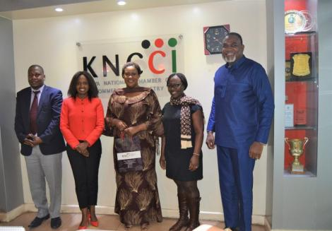 Angela Ndambuki with Ghana High Commissioner to Kenya H.E Francisca Ashietey and Deputy Head of Mission, Nuku Quashie on 5th December, 2019.