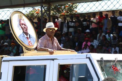 Former Kiambu Governor William Kabogo arrives for the BBI rally in Meru on Saturday, February 29, 2020.