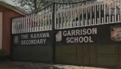 Kahawa Garrison Secondary School gate