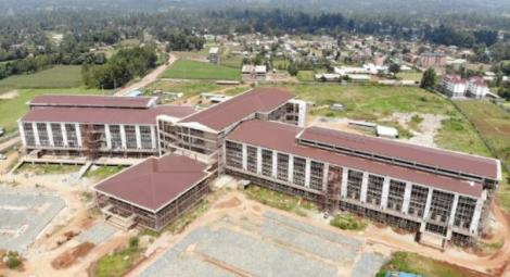 An ariel view of upcoming Kakamega County Teaching and Referral Hospital in Kakamega county.