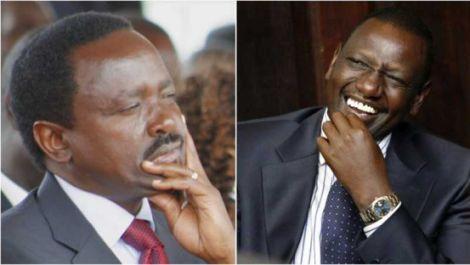 An image of Kalonzo and Ruto