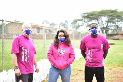 Betty Kyallo (centre) with her brand manager Kamarichi Mbarani