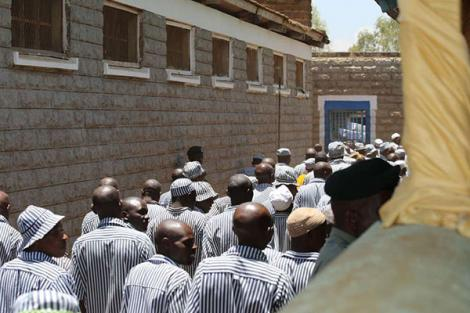 Inmates at the Kamiti Maximum Security Prison pictured on March 22, 2016