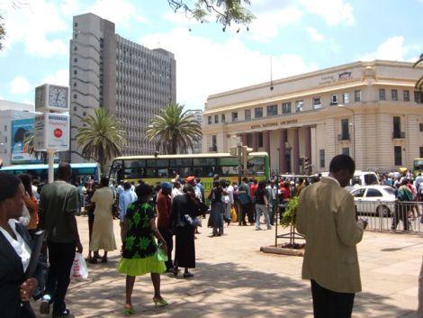 Kencom stage in Nairobi