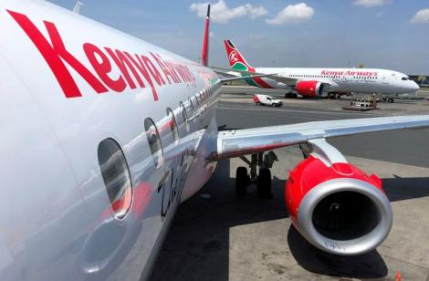 File image of a Kenya Airways plane