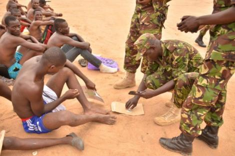 Kenya Defense Forces (KDF) during previous recruitment