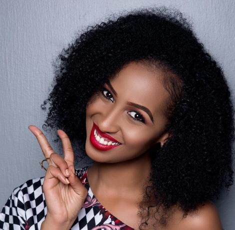 Kenyan actress Sarah Hassan strikes a pose.