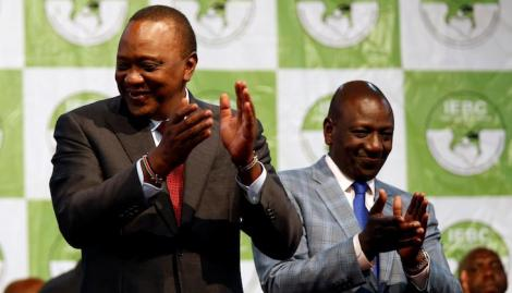 Kenyan president Uhuru Kenyatta (Left) and deputy president William Ruto.