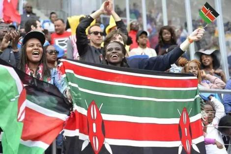 Kenyans on the streets marking the day of heroes, Mashujaa Day.