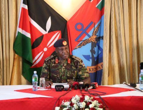 Chief of Defence Forces Lieutenant General Robert Kariuki Kibochi.