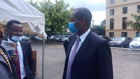 Kipipiri MP Amos Kimunya at the Milimani Law Courts in Nairobi on Wednesday, May 20, 2020