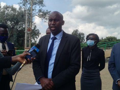 Law Society of Kenya (LSK) North Rift Branch Chairman Joshua Maritim addresses a press conference on June 11, 2020