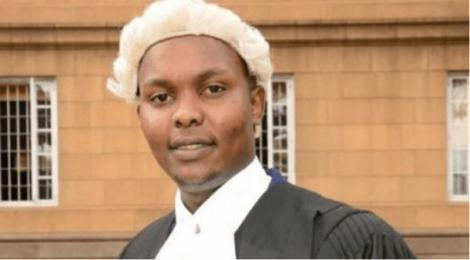 Lawyer Onesmus Masaku, who died on Sunday, October 18, after being injured after cutting his hands.