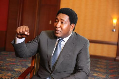 Narok Senator Ledama ole Kina during Point Blank Interview with Tony Gachoka on September 11, 2019.