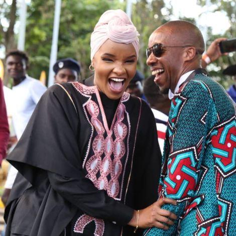 Lulu Hassan (Left) and her husband Rashid Abdalla share a light moment. December 14, 2019.