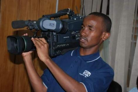 Former Citizen TV reporter Mohamed Mahmud on an assignment
