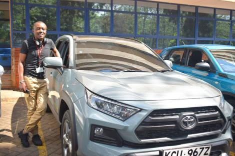 Classic FM presenter Maina Kageni with his 2019 Toyota Rav 4.