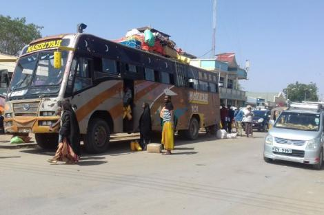 File image of a Makka bus pictured in Mandera town on March 20, 2020