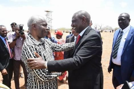 Makueni Governor Kivutha Kibwana and Deputy President William Ruto
