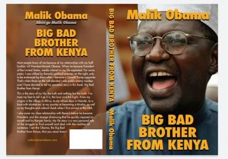 A cover shared by Malik Obama on April 7, 2020 for his upcoming book 'Big Bad Brother from Kenya'