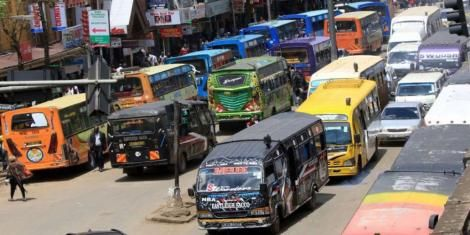 File image of matatus on the streets of Nairobi