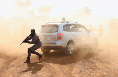 Members of Kenyas Anti-Terror Police Unit pictured during a drill.