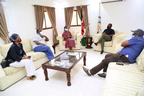 Mombasa Governor Hassan Joho meeting the Senate Adhoc Committee on Covid-19 on September 2, 2020