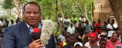 Bumula MP Moses Mabonga addresses a gathering in Busia County in 2018