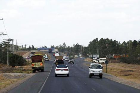 Motorists pictured on the Eastern bypass road.