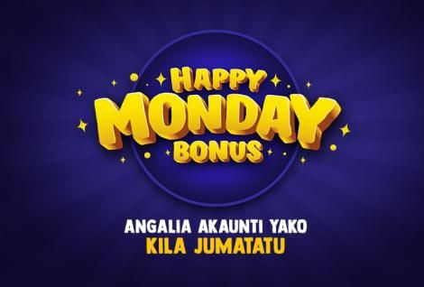 A promotional poster for MozzartBet's Happy Monday weekly bonus that began on Monday, April 13