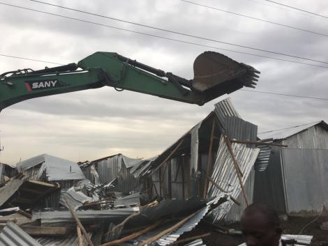 Demolitions at Mukuru Slums