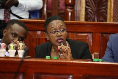 Murang'a Woman Rep Sabina Chege during a health committee sitting on Wednesday, March 11