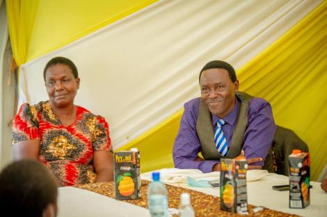 NCIC Commissioner Wambui Nyutu's mother and father during the party on Saturday, November 14, 2020.