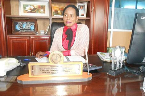 NIBS College Founder and CEO Lizzie Wanyoike pictured in her office.