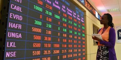 File image of Nairobi Securities Exchange Market