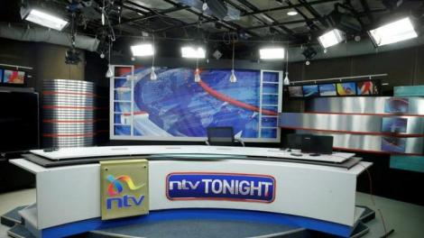 File image of a news set at NTV studios in Nairobi