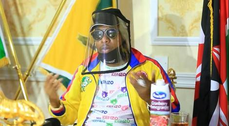 Nairobi Governor Mike Sonko addresses a press conference on Tuesday, April 14, 2020.