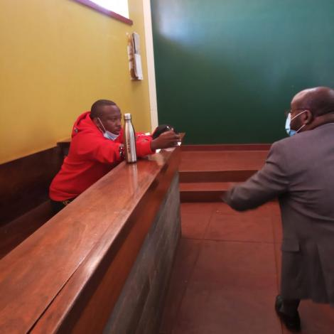 Nairobi Governor Mike Sonko during a court proceeding.