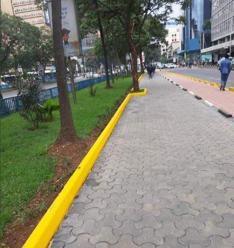 the new look of Kenyatta Avenue after intervention by the NMS.