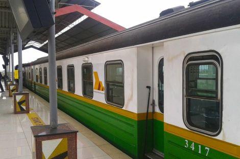 File image of a Nairobi commuter train