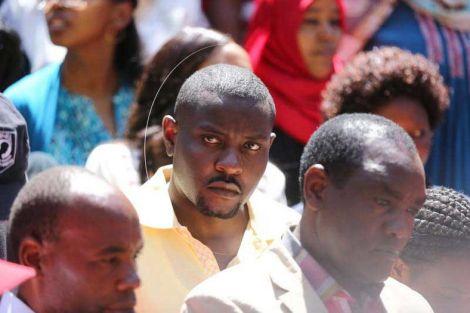 Nakuru Senator Susan Kihika's Ex-husband Samuel Mburu (Centre).