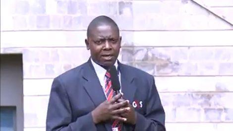 Screengrab from a video of Namuasi Nyongesa reporting news
