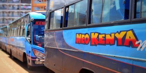 A fleet of Neo kenya Mpya buses