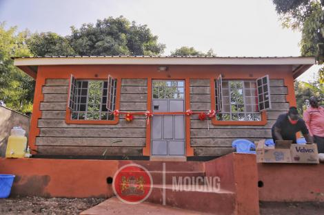 New house given to the family of the late John Njenga by the interior CS Fred Matiang'i on November 20, 2020