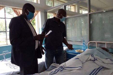Investigators questioning Peter Mburu on Saturday, May 16 at the Olkalou Hospital